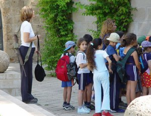 Israeli Teacher at work