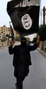 ISIS Flag with ISIS Ninja