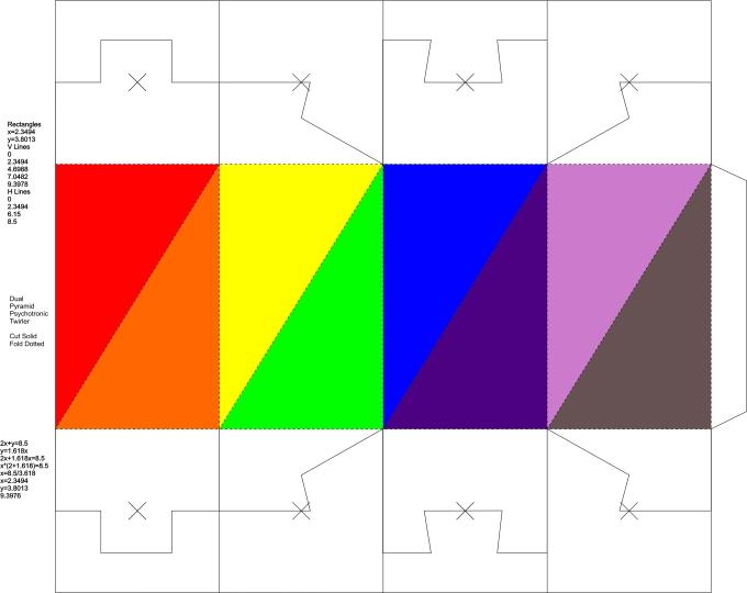 Twirler dual pyramid 8-color BOX