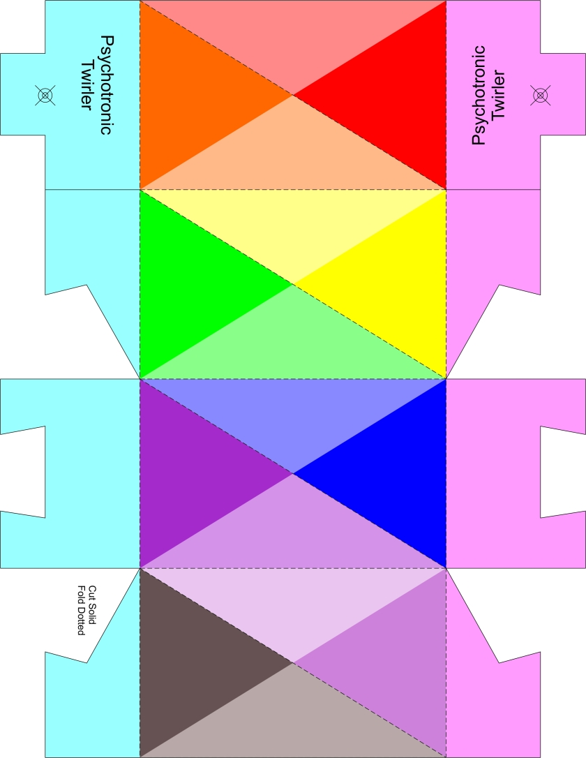 Twirler dual pyramid color & tuck ends template 8.5 x 11 portrait