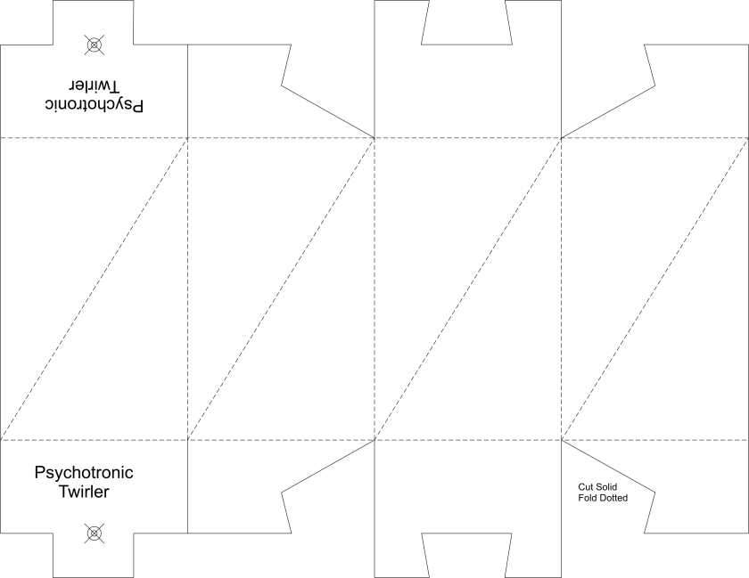 Twirler dual pyramid no color & tuck ends template 8.5 x 11